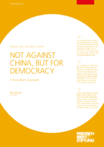 Not against China, but for democracy